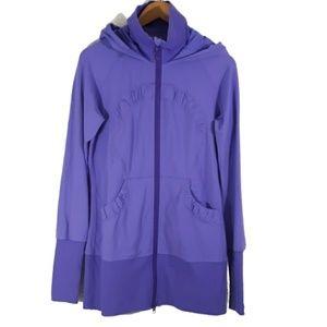 Lululemon Long Stride Hoodie Jacket Ruched 10